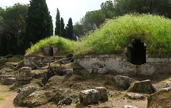 How to Visit the Etruscan Tombs at Necropolis Cerveteri from Rome Italy?