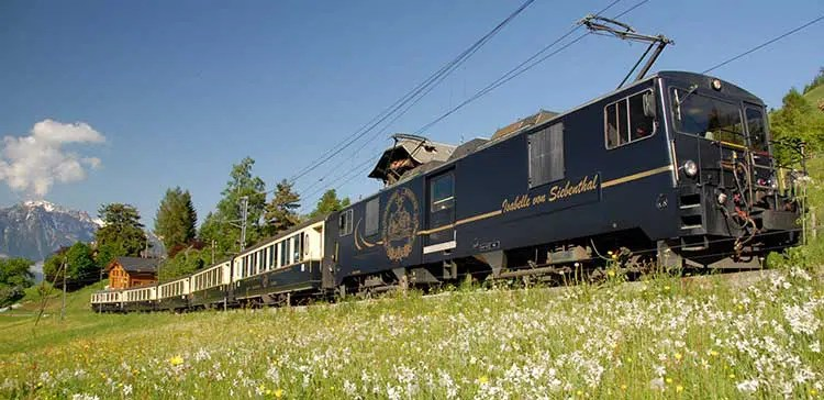 Panoramic Golden P Train Route through Switzerland on golden potty, golden shuttle, golden helicopter, golden windmill, golden ambulance, golden railroad, golden mall, golden sky,