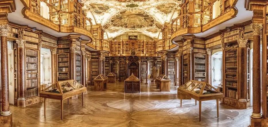 St. Gallen Library interior.