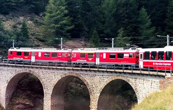 Bernina Express Train Switzerland Story