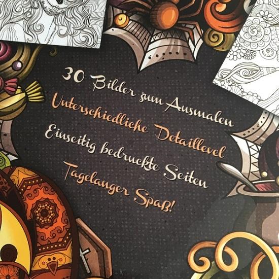 Happy Halloween mit BOSS Malbücher Cover Rückseite Probenqueen