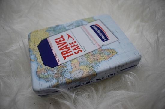 Sanicarebox Eucerin and friends Hansaplast Travel Safe Box Probenqueen