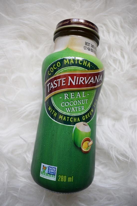 Pinkbox loves Joy Taste Nirvana Kokoswasser mit Matcha Probenqueen