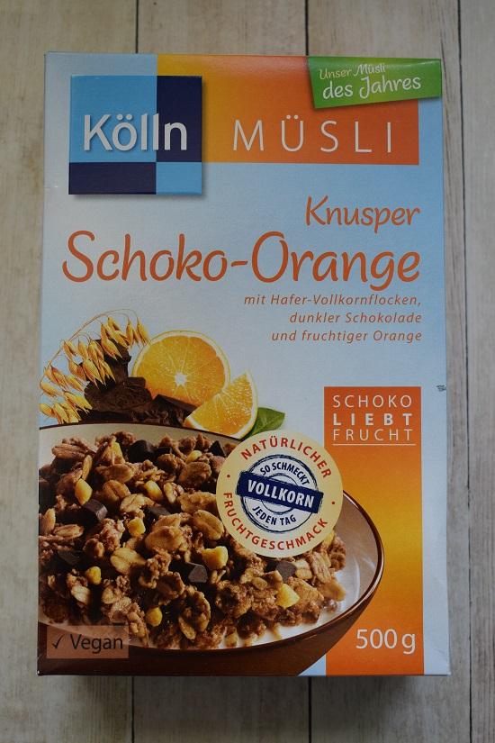 Brandnooz Box April Kölln Müsli des Jahres Packung Schoko Orange Probenqueen