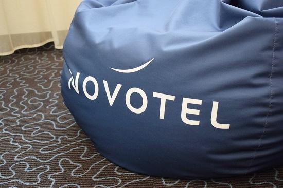 Bloggerfactory Event www.probenqueen.de blauer Novotel Sitzsack