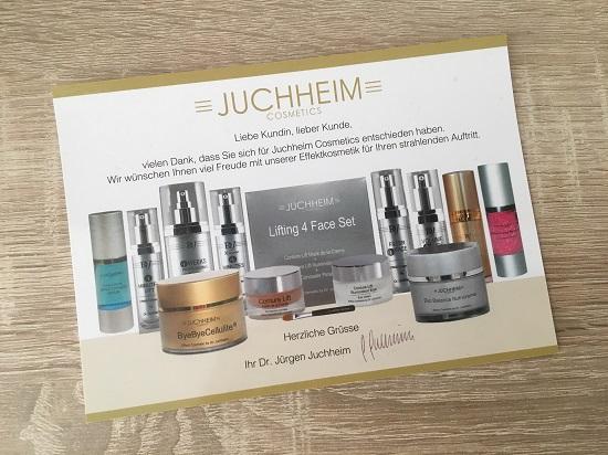 ByeByeCellulite Creme von Juchheim Dankes-Postkarte www.probenqueen.de