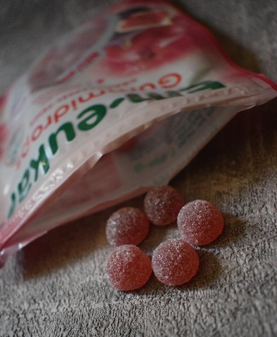 Bonbons von Em-Eukal Gummidrops Nahaufnahme www.probenqueen.de