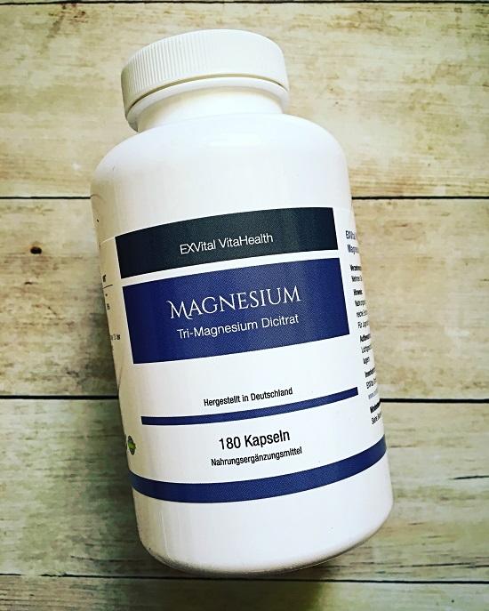 Magnesium von Exvital Dose mit 180 Kapseln www.probenqueen.de