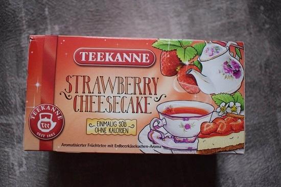 Degusta Box Dezember 2018 Teekanne Strawberry Cheesecake Teepackung www.probenqueen.de