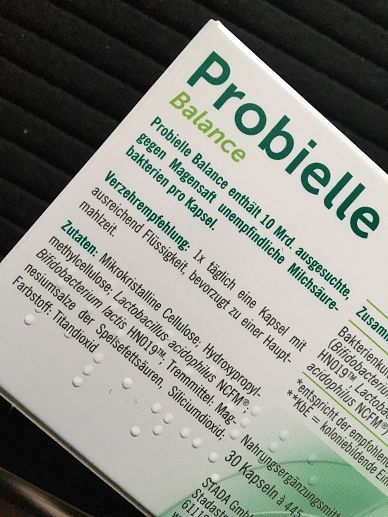 Probielle Balance Packungsrückseite - Probenqueen