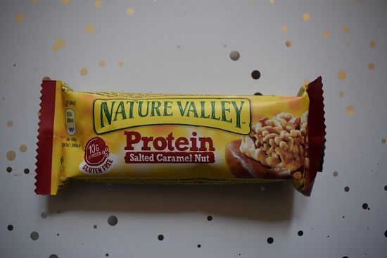 Degustabox Februar 2019 Nature Valley Protein Riegel Salted Caramel Nut