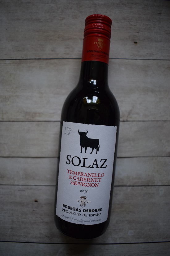 Degustabox April 2019 Solaz Rotwein von Osborne