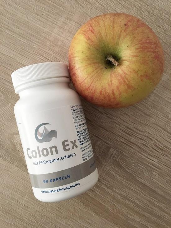 Colon Ex Dose mit 90 Kapseln und Apfel