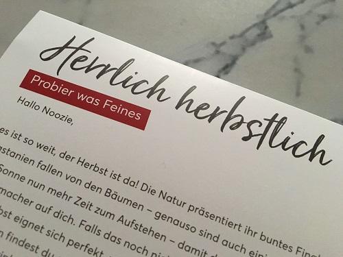 Brandnooz Genussbox Oktober 2019 Flyer www.probenqueen.de