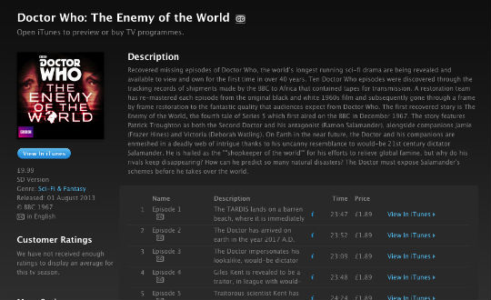 enemy of the world itunes