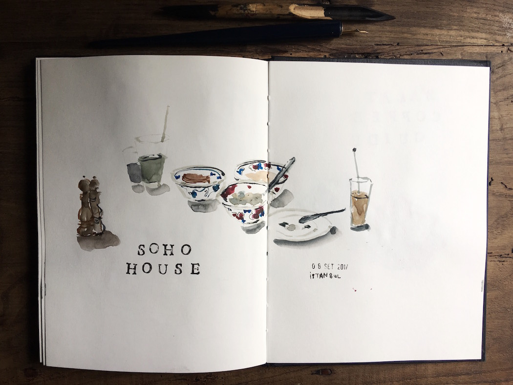soho house drawing notebook sketching