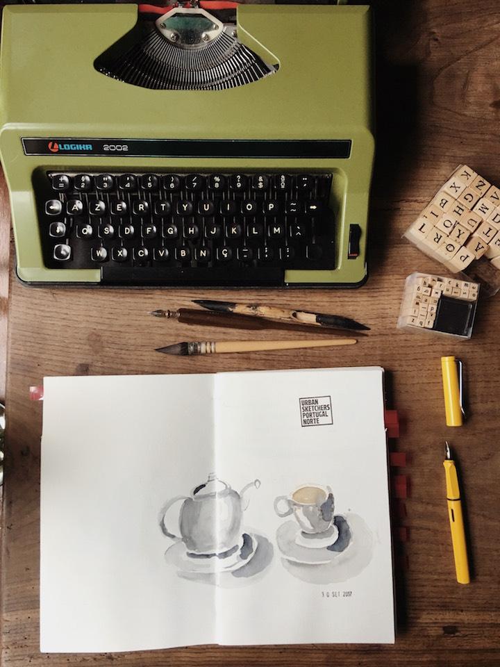 drawing watercolour urban sketchers