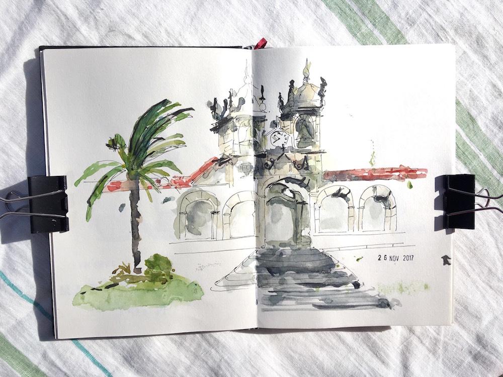 drawing nazare portekiz çizim blog urbansketchers