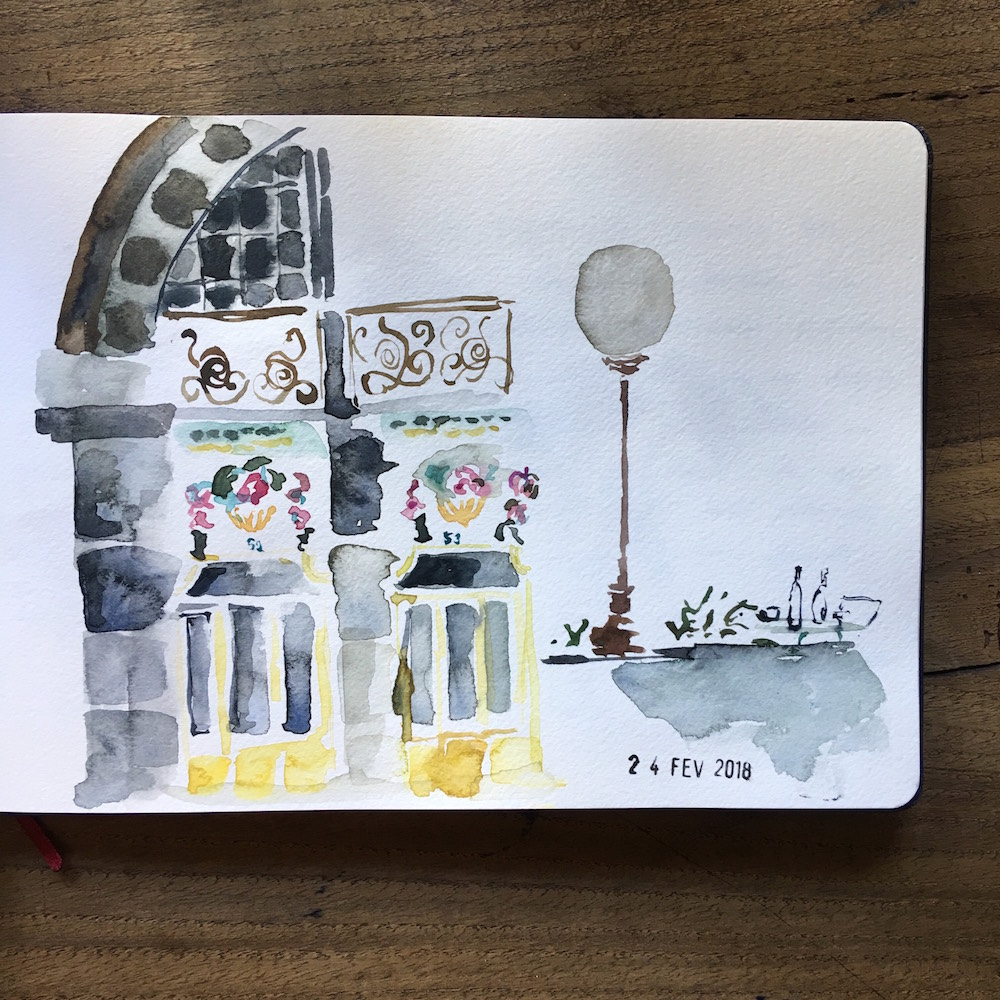 drawing çizim watercolour urban sketchers probisnaz blog bloggers çizim suluboya defter