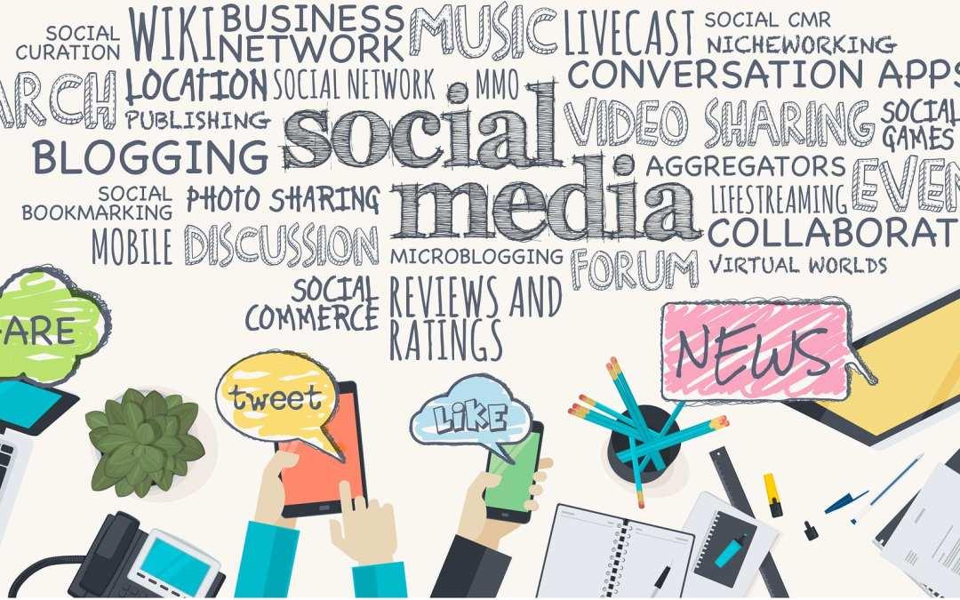 Digital marketing for Small Business keywords flat overlay