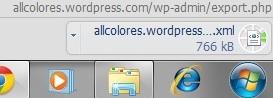 The file downloads