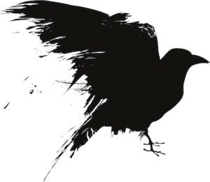 Black crow silhouette