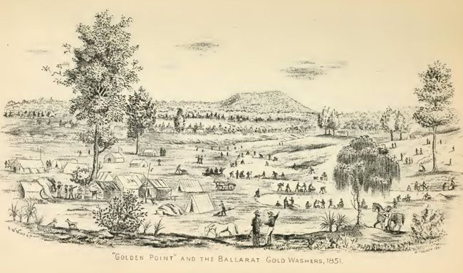 'Golden Point' and the Ballarat Gold Washers 1851