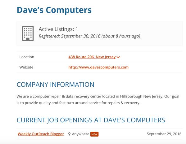 Problogger job board profile page