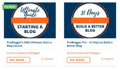 Exemples de cours ProBlogger