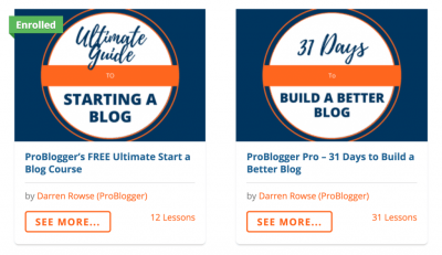 ProBlogger Courses Example