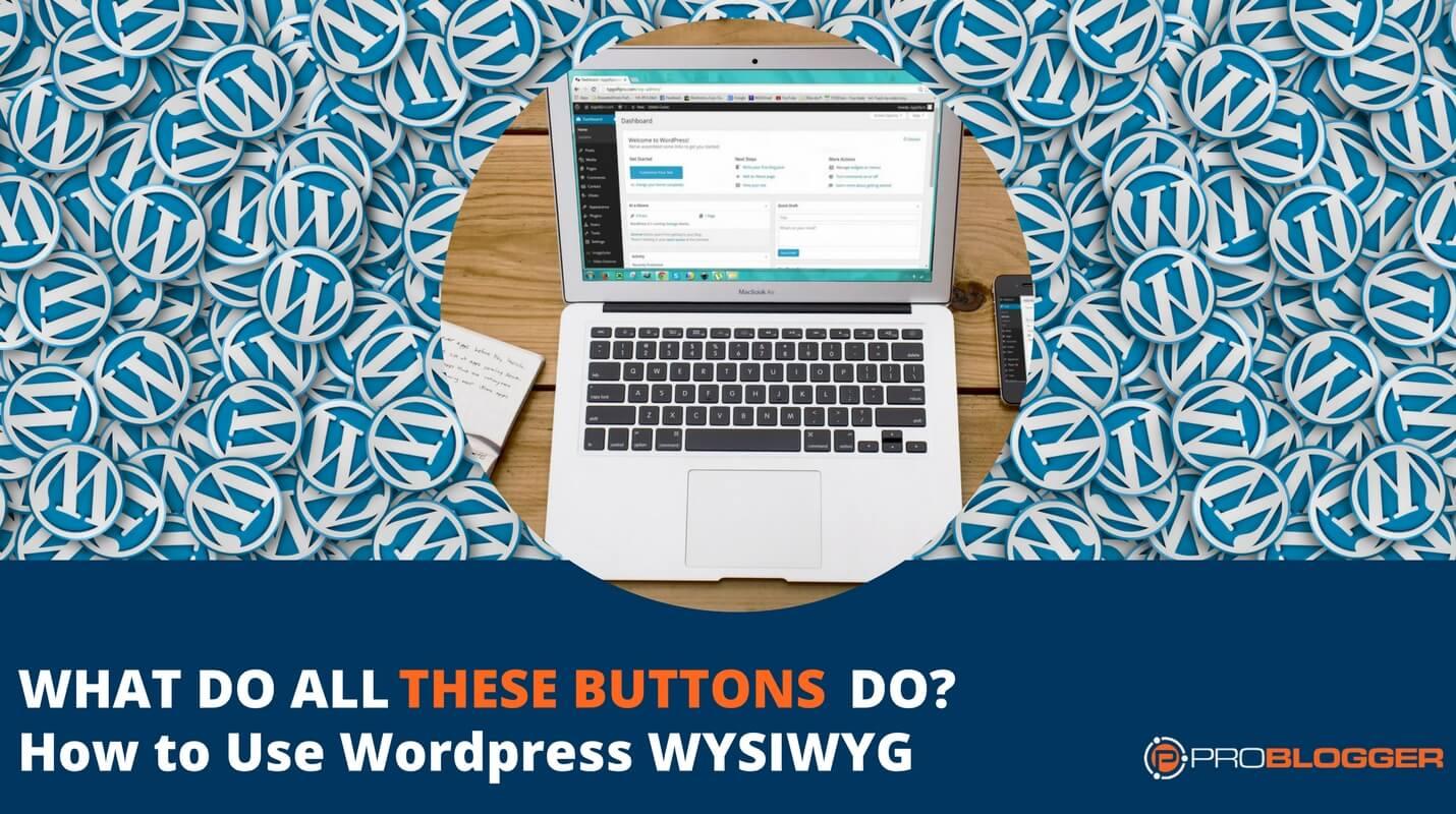 WordPress WYSIWYG tutorial
