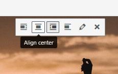 Align Center Button