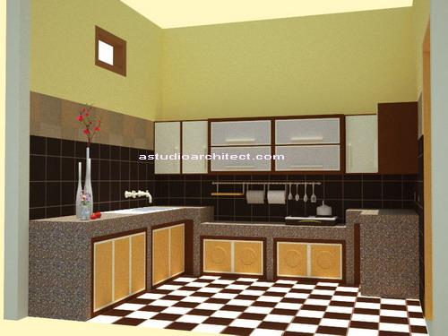 Contoh Kitchen Set Untuk Meja Tembok Lapis Granit