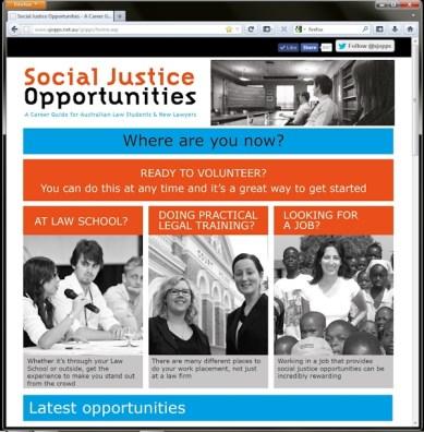 Social Justice Opportunities website