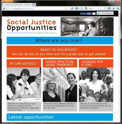 Social Justice Opportunities website