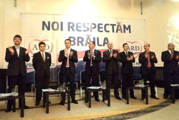 Lansarea candidatilor ARD Braila, girata de nume grele, de la Centru