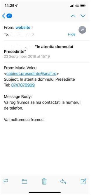 Emailuri false trimise în numele ANAF