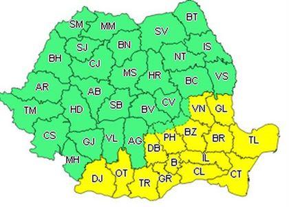 Cod galben de caniculă valabil astăzi și pentru județul Brăila