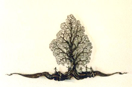Das Familien Symbol als Lebensbaum