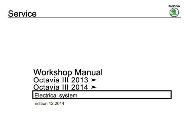 pdf online  skoda octavia iii 2013 octavia iii 2014