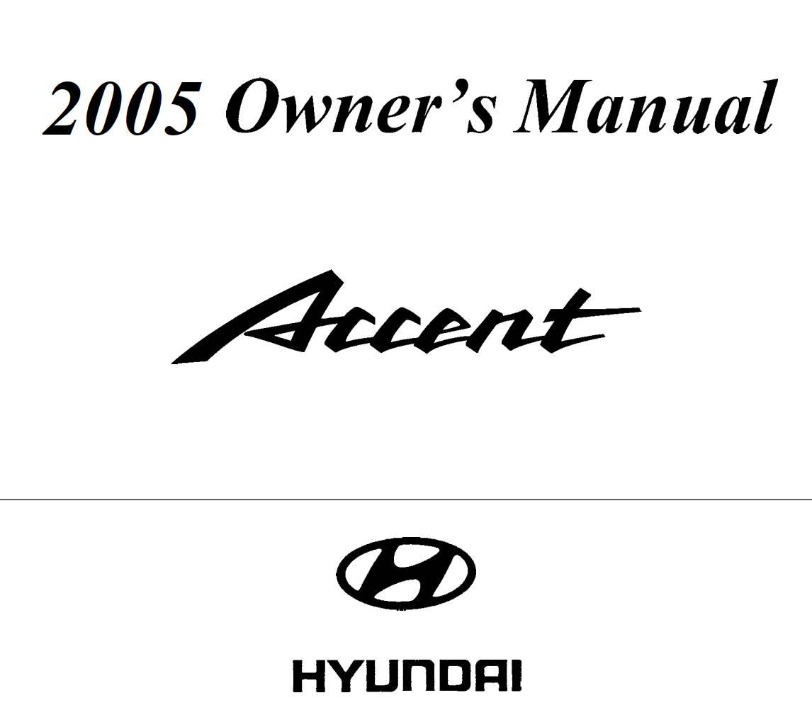 Hyundai Accent Owner S Manual Download