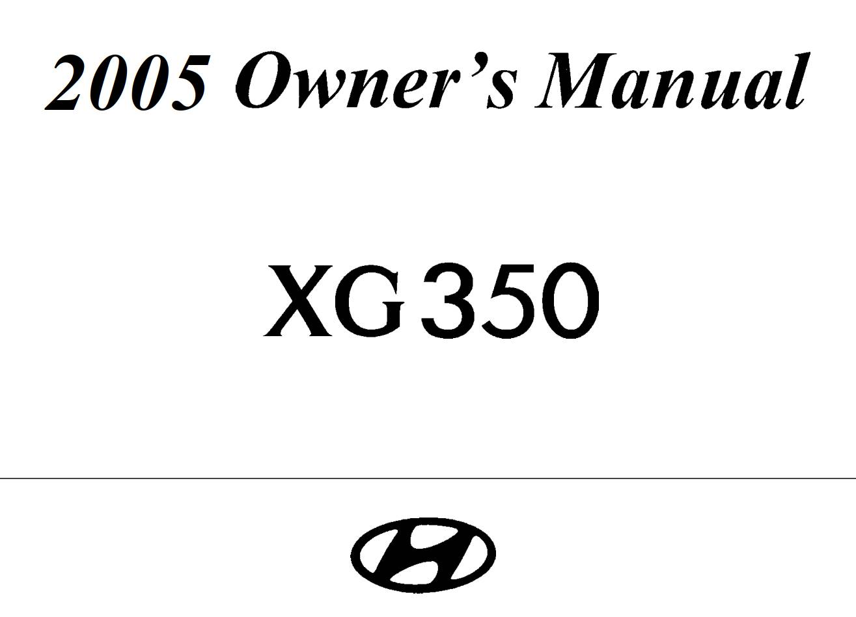 Hyundai Gx350 L Owner S Manual Download