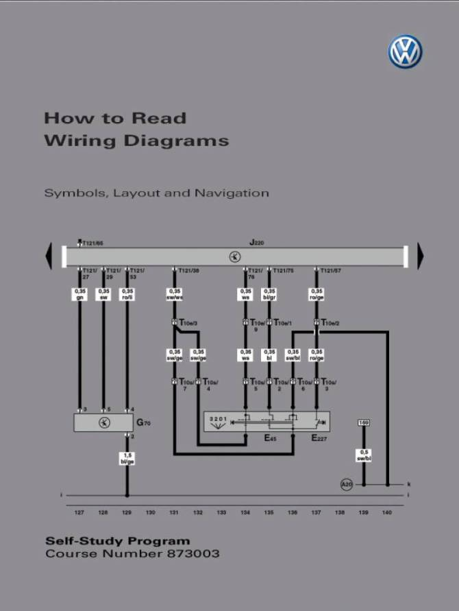 self study program 873003  how to read wiring diagrams