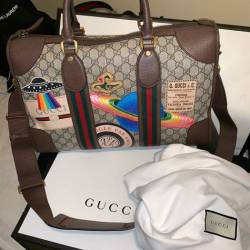 b324bca5b73c Gucci Gucci Courrier Soft Gg Supreme Duffle Bag $4,200 Size One Size