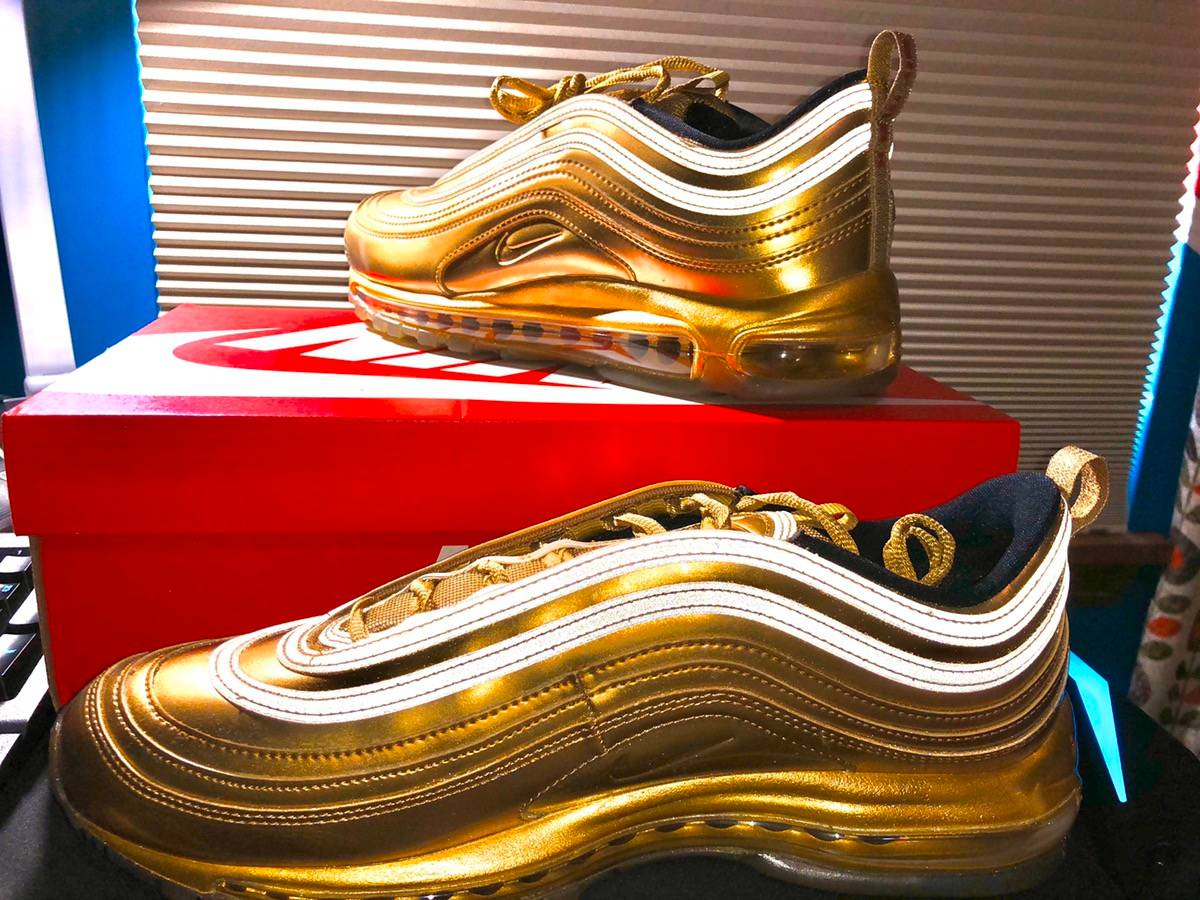 Nike Ds Air Max 97 Gold Medal Size 12 Grailed