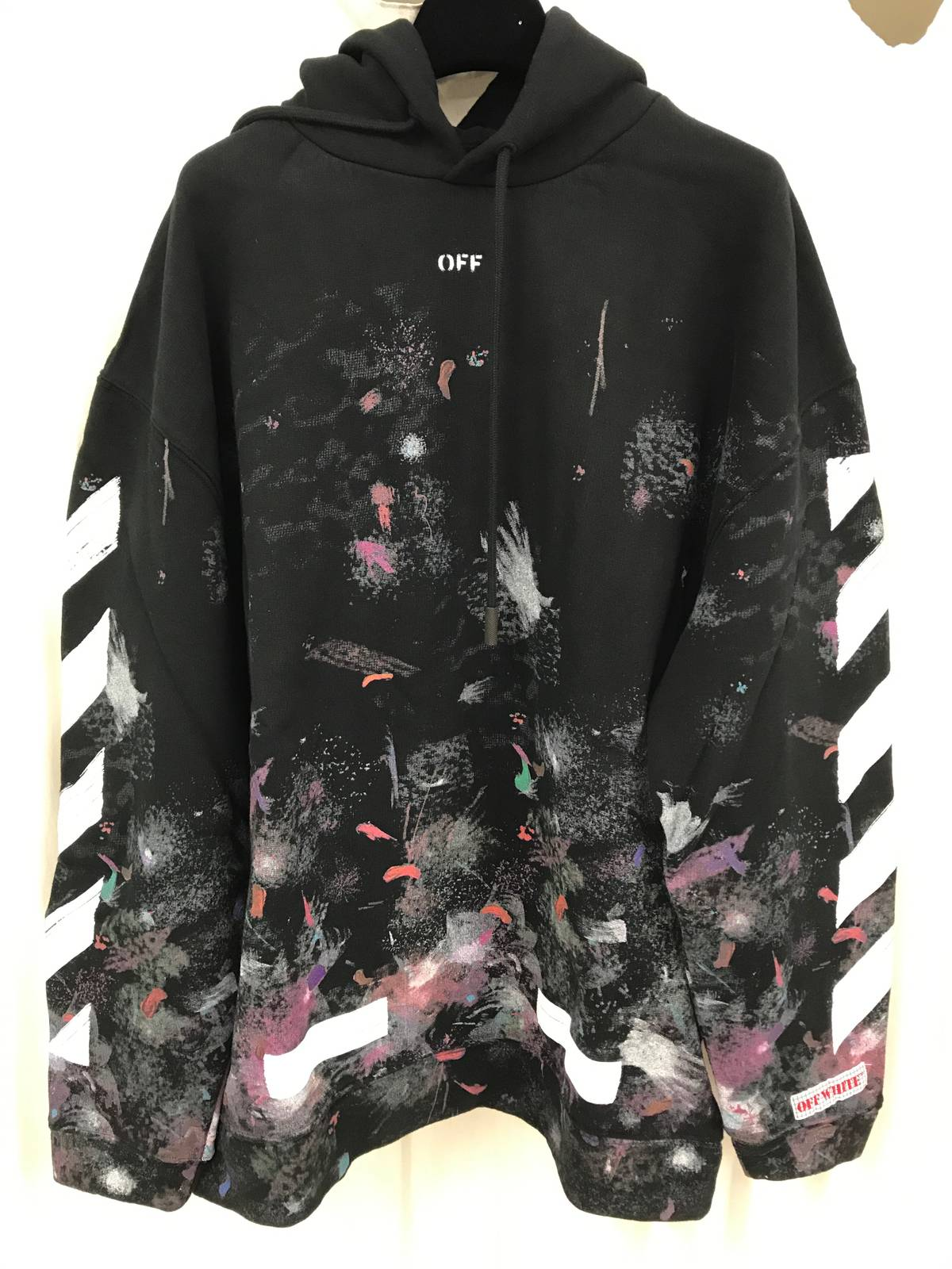 Off White Galaxy Brushed Pullover Hoodie Grailed