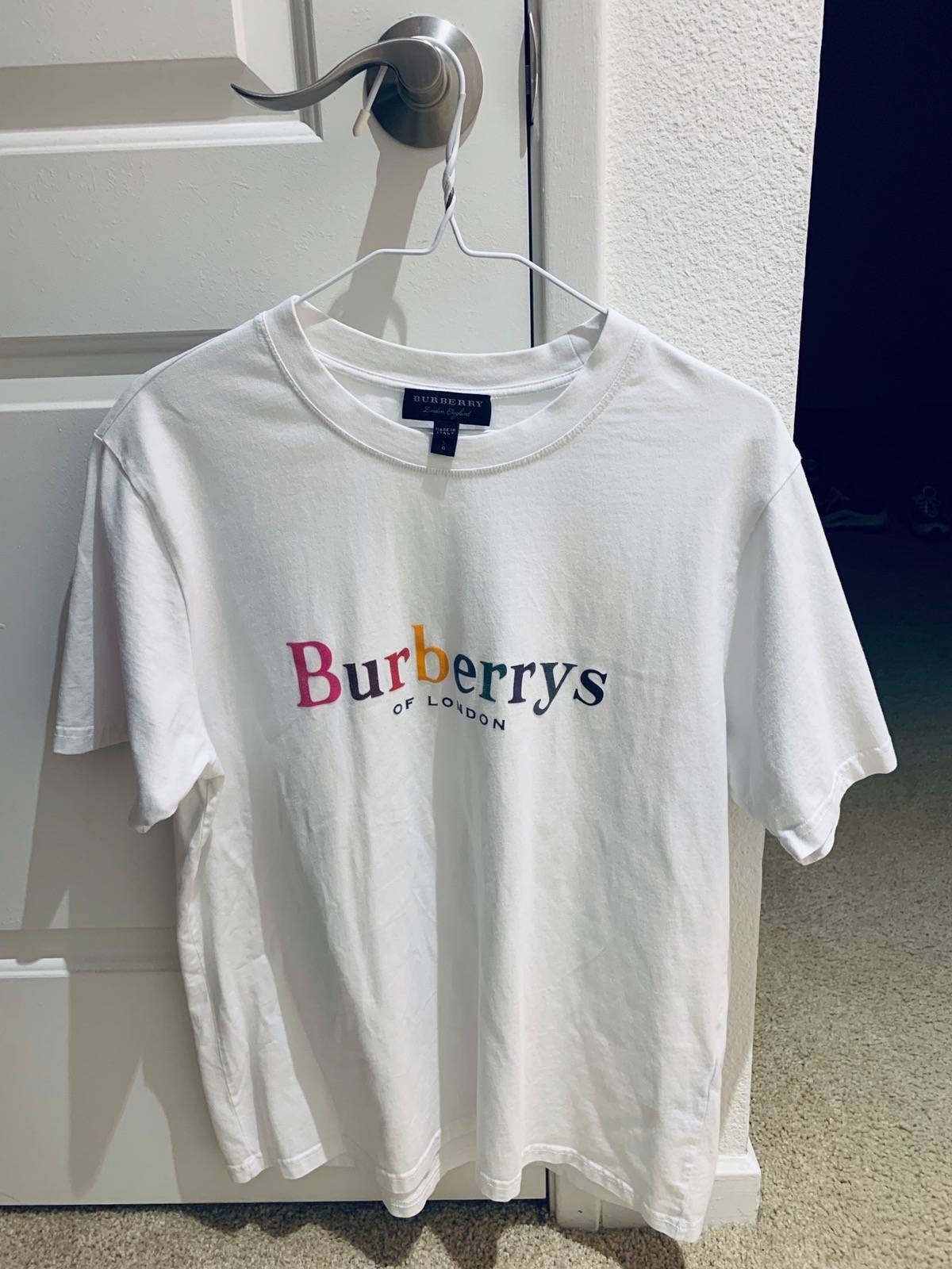 Burberry Burberry Rainbow Logo T Shirt Grailed