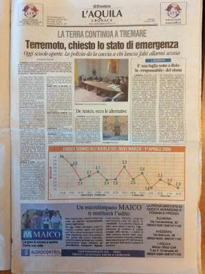 Il Centro, ed. L'Aquila, 02-04-2009, 2