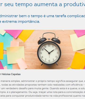 Planejar seu tempo aumenta a produtividade