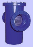 """PN 10 T-type welded construction, with flanged ends and drain-plug 1/2"""" in cover Image"""